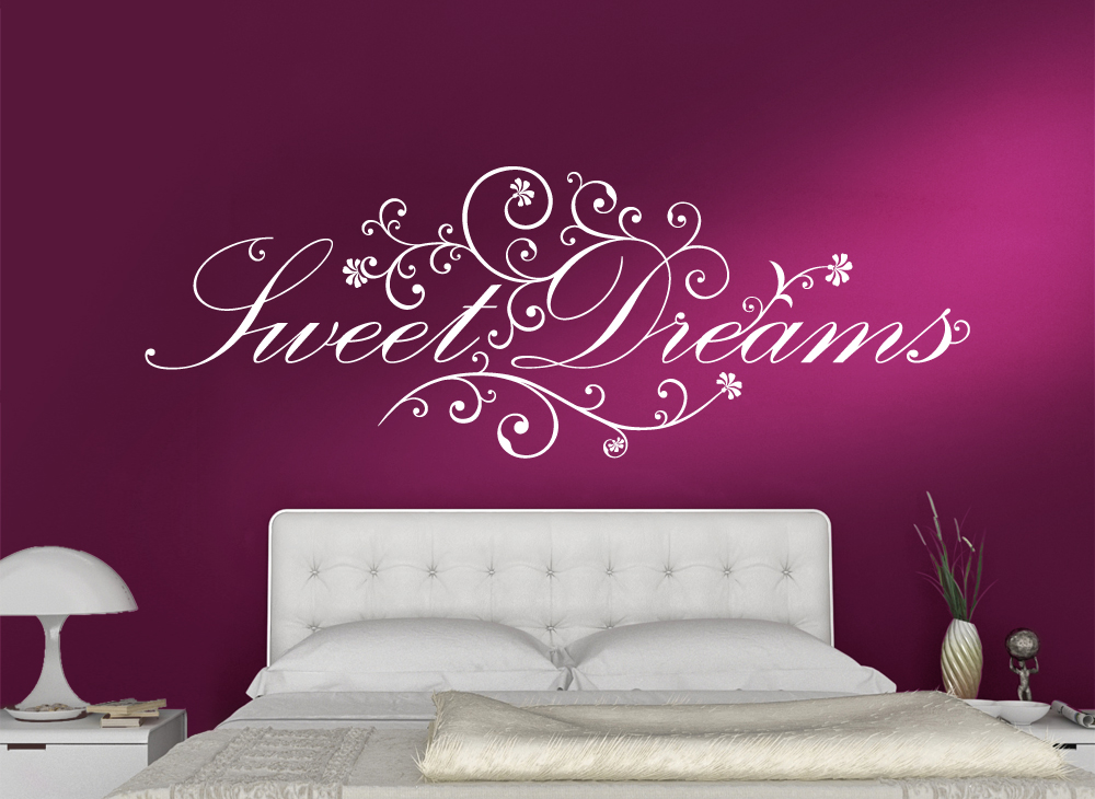 wandtattoo schlafzimmer 1041w sweet dreams in 3 gr en wandtatoo wandsticker. Black Bedroom Furniture Sets. Home Design Ideas