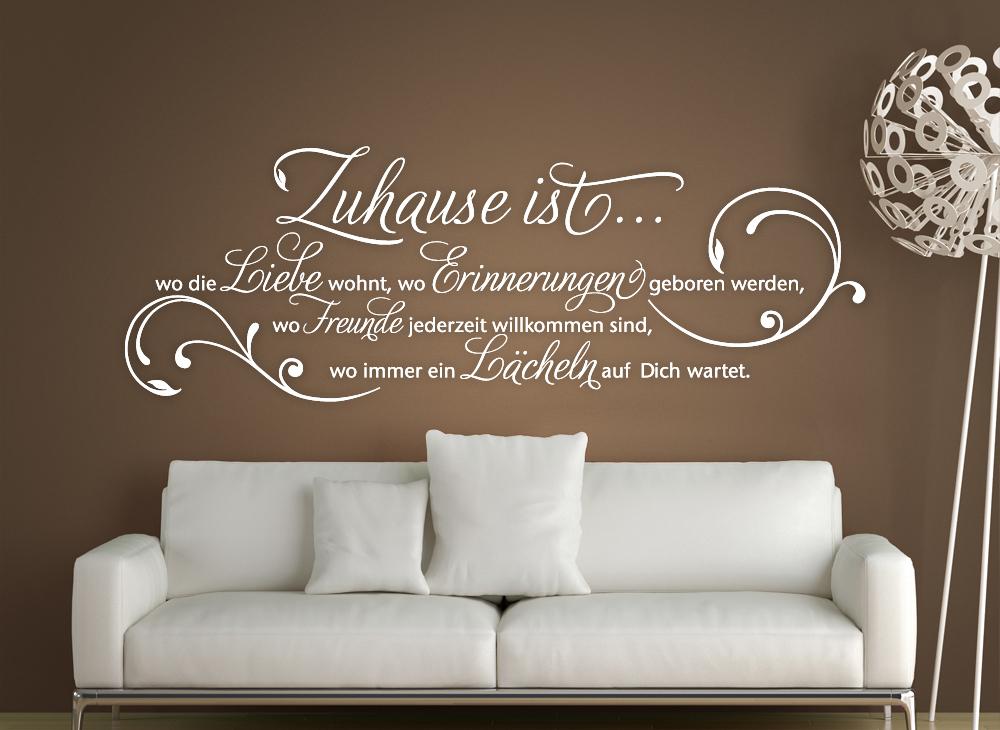 wandtattoo zuhause ist wo die liebe wohnt w1153 spruch. Black Bedroom Furniture Sets. Home Design Ideas