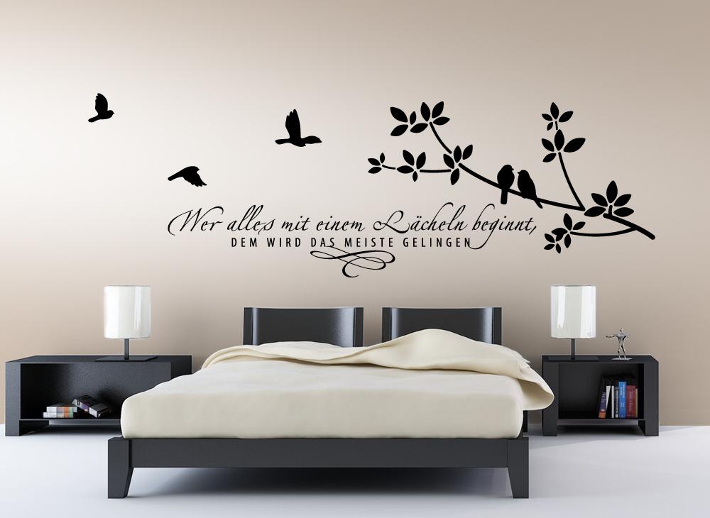 Luxur. WANDTATTOO Schlafzimmer Wohnzimmer Vögel Ast ...