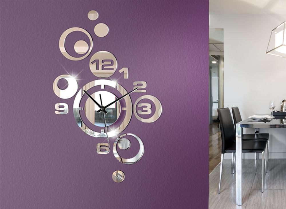 Moderne wanduhr spiegel design uhr w842 dekoration wandtattoo geschenk uhren ebay - Wanduhr design wohnzimmer ...