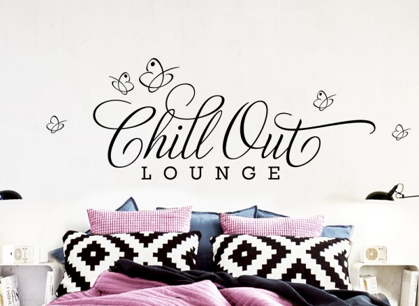 "Wandtattoo Zitat ""Chill Out Lounge"" W817"