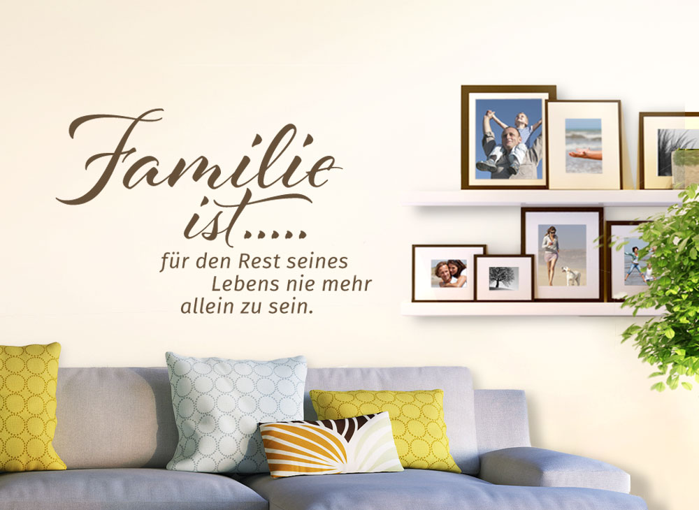 wandtattoo spruch familie ist g071 spr che zitate. Black Bedroom Furniture Sets. Home Design Ideas