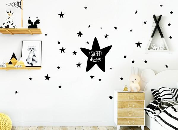 Little Deco Wandtattoo Sweet Dreams & Sterne D248