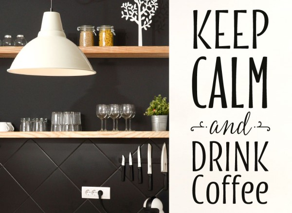 Wandtattoo Keep Calm and Drink Coffee G165