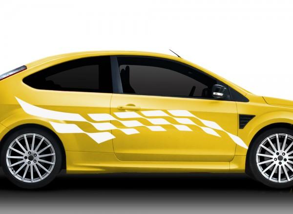 2er Set Autoaufkleber Racingstyle X7153