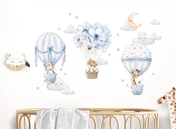 Little Deco Wandtattoo Tiere & Heißluftballons DL657