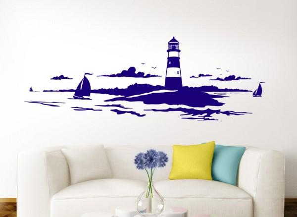 Wandtattoo Skyline Küstenlandschaft Leuchtturm W974