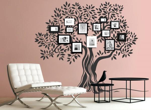 Wandtattoo Baum Mit Ästen Und Blättern W5409