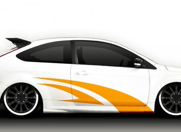 2er Set Autoaufkleber Racingstyle X7024