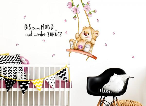 Little Deco Wandtattoo Bis Zum Mond Bar Auf Schaukel Dl151 Madchen Kinderzimmer Wandtattoos Nach Zimmer Wandtattoos Grandora De