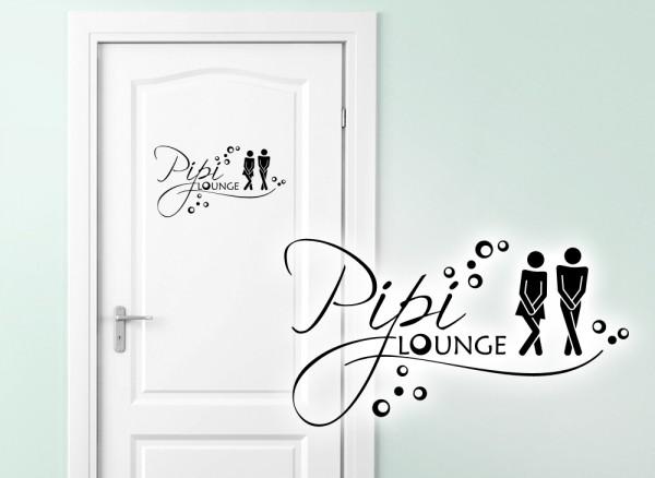 "Wandtattoo WC Aufkleber Mann / Frau ""Pipi Lounge"" W3004"