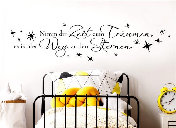 """Wandtattoo Spruch """"Nimm dir Zeit zum Träumen"""" W904"""