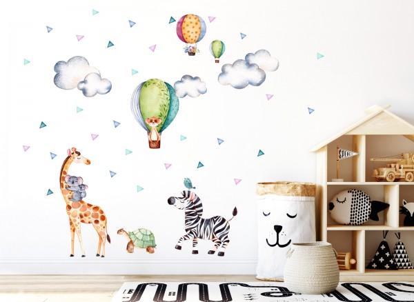 Little Deco Wandtattoo Safari Party Giraffe Zebra DL304
