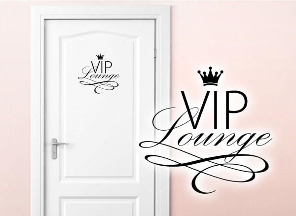Wandtattoo Türaufkleber VIP Lounge W5373