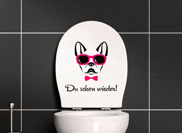 """Wandtattoo WC Aufkleber """"Du schon wieder"""" E041"""