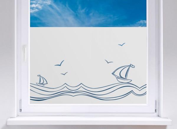 Sichtschutzfolie Segelschiffe auf hoher See W5271