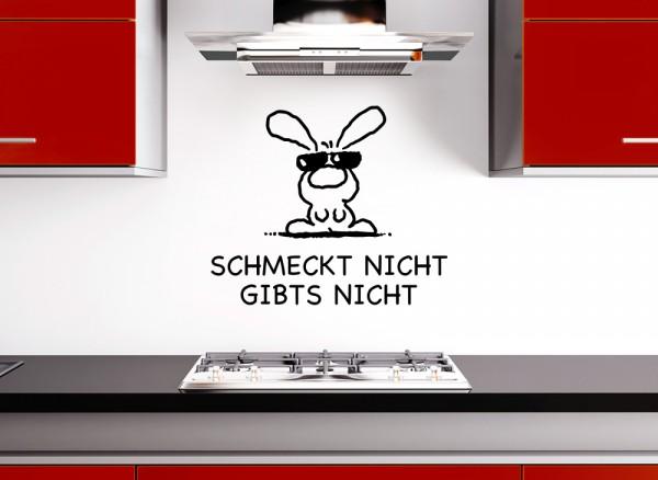 """Wandtattoo Zitat """"Schmeckt nicht Gibts nicht"""" W841"""