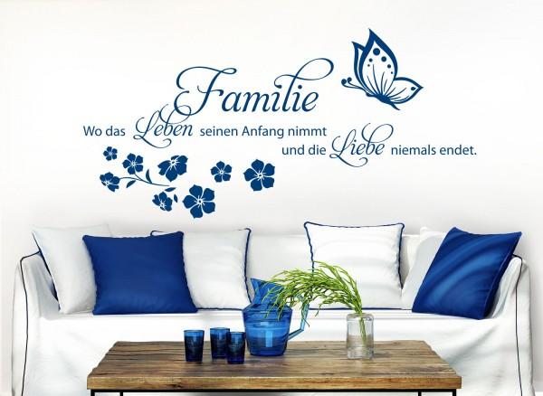 Wandtattoo Familie ist.. wo Leben beginnt.. W5448