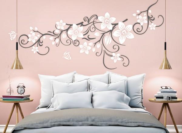 Wandtattoo 2 Farbige Blumenranke Mit Schmetterling W5391 Blumen Ranken Wohnzimmer Wandtattoos Nach Zimmer Wandtattoos Grandora De