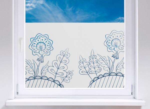 Sichtschutzfolie Blumenhügel W5272
