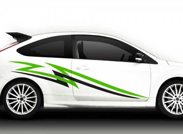 Autoaufkleber 2er Set Racingstyle 2-farbig X7035
