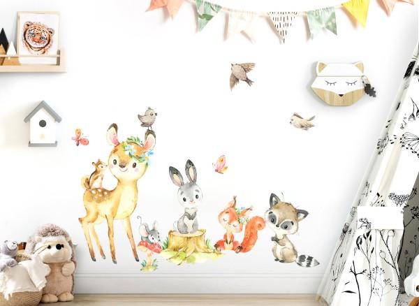 Little Deco Waldtiere mit Schmetterlingen & Vögeln DL550