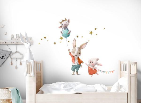 Little Deco Wandtattoo Hasen mit Luftballon DL725