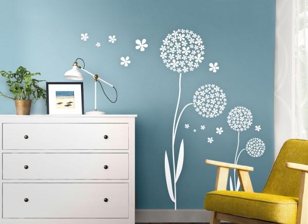 Wandtattoo Blume mit Blütenball W383