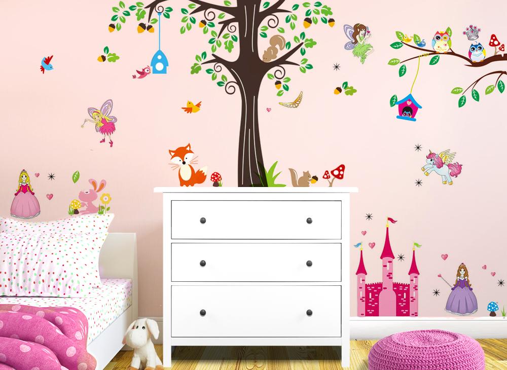 wandtattoo xxl premium set baum fuchs v gel eulen w5313. Black Bedroom Furniture Sets. Home Design Ideas