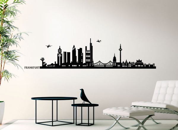 Wandtattoo Skyline Frankfurt G147