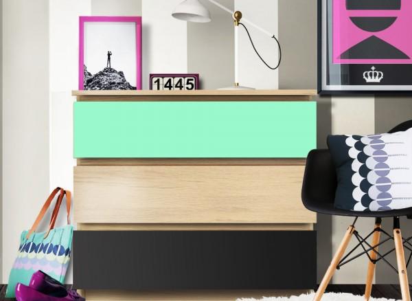 Möbelfolie 2-farbig mint, dunkelgrau W5349