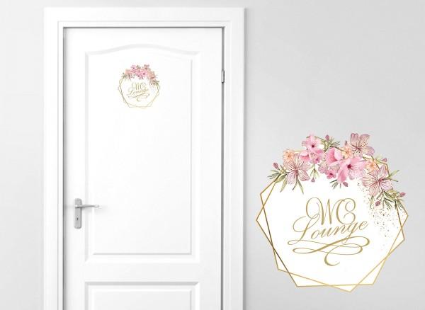 Grandora Türaufkleber WC Lounge mit Blumenranke DL441