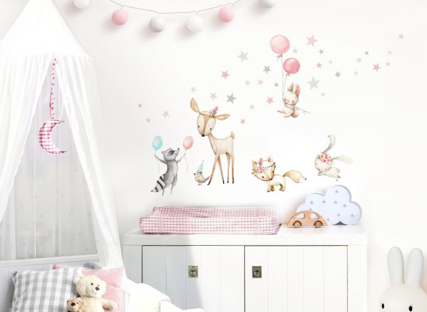 Little Deco Wandtattoo Waldtiere Party DL644