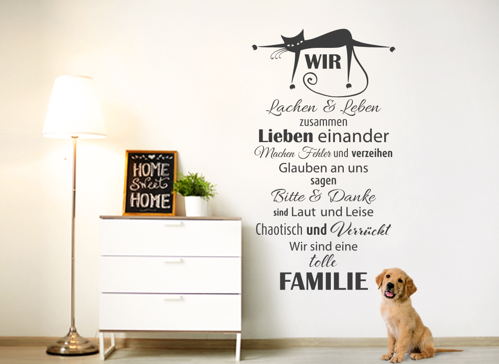 wandtattoo spruch wir lachen leben zusammen g070. Black Bedroom Furniture Sets. Home Design Ideas