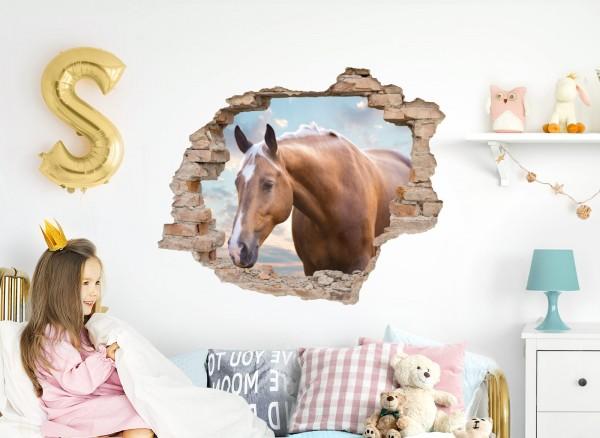 Little Deco Wandtattoo 3D Loch Effekt mit Pferdekopf DL628