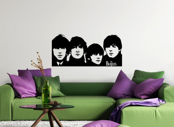 Wandtattoo The Beatles Portrait W653