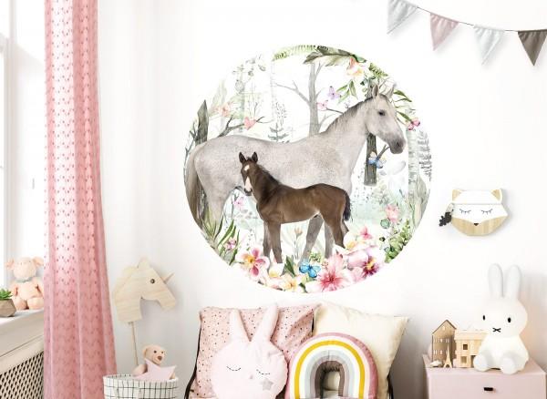 Little Deco Wandtattoo Pferde & Blumen DL623