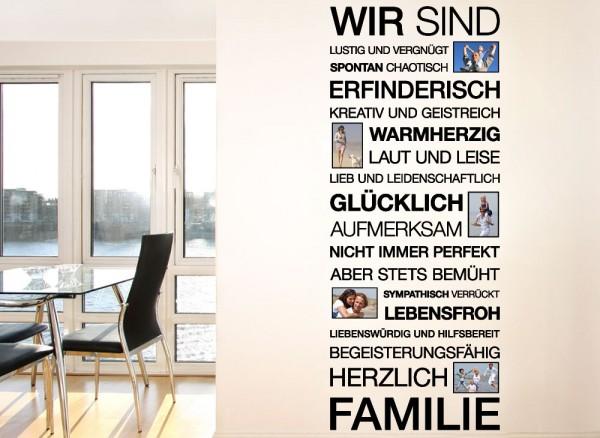 wandtattoo spruch wir sind familie bilderrahmen e026 spr che zitate wohnzimmer. Black Bedroom Furniture Sets. Home Design Ideas