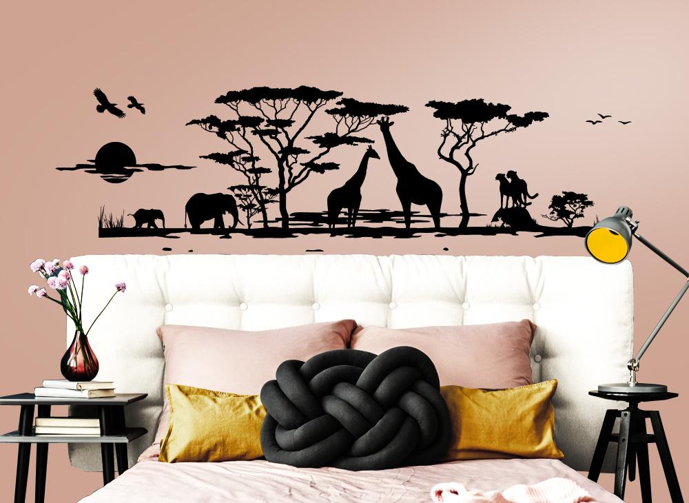 31 skyline und panorama wandtattoos als deko. Black Bedroom Furniture Sets. Home Design Ideas
