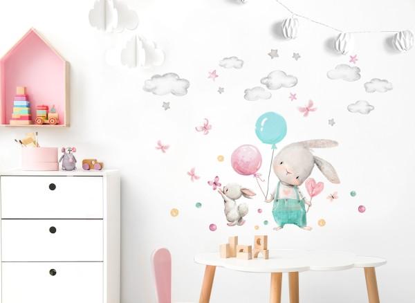Little Deco Wandtattoo Hasen & Luftballons DL675