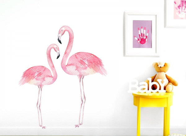 Little Deco Wandtattoo Flamingos DL154