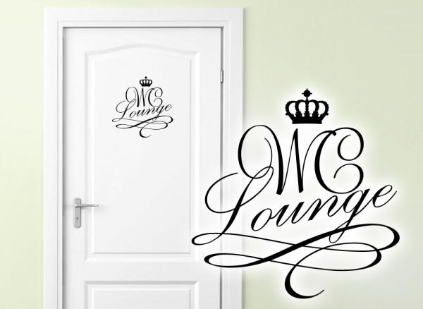 Wandtattoo Türaufkleber WC Lounge W881