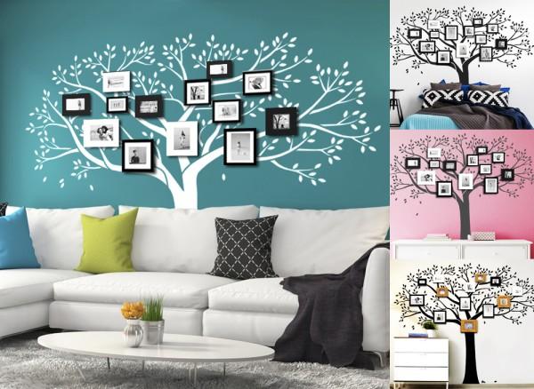 Wandtattoo Baum mit Ästen und Blättern W5137
