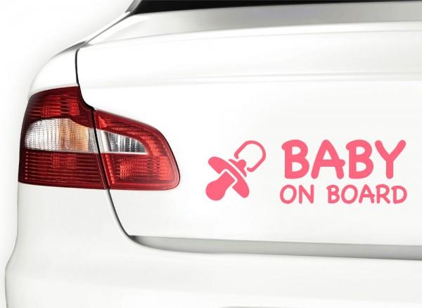 Autoaufkleber Baby on Board + Schnuller X7099