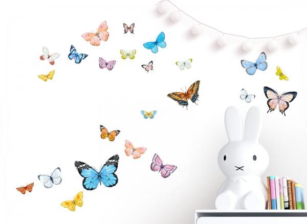 Little Deco Wandtattoo 22 Schmetterlinge DL651