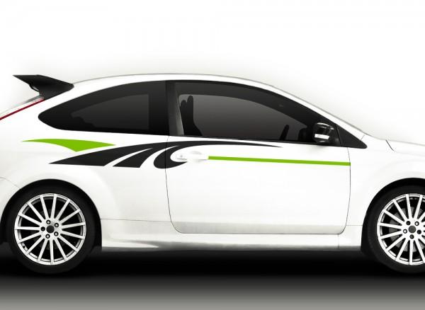 Autoaufkleber 2er Set Racingstyle 2-farbig X7118