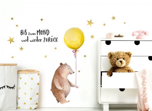 Little Deco Wandtattoo Bär mit Luftballon DL220