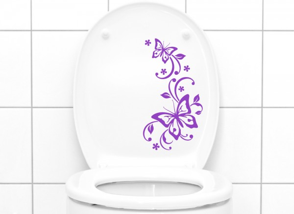 Wandtattoo WC Aufkleber Schmetterlinge W902