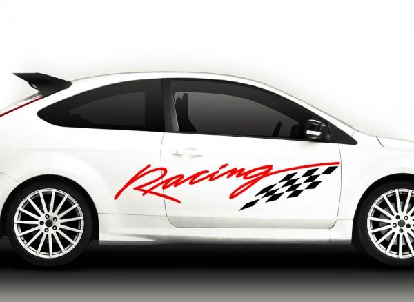 Autoaufkleber 2er Set Racingstyle 2-farbig X7038