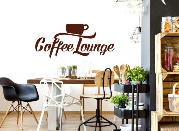 Wandtattoo Coffee Lounge mit Kaffeetasse W5500